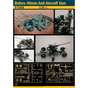 ITALERI 6458 BOFORS 40MM ANTI AIRCRAFT GUN 1:35