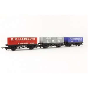 HORNBY R6482 3 PACK OPEN WAGON BRIGHT
