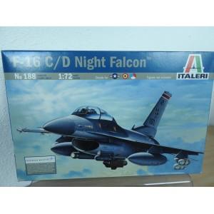 ITALERI 188 F16 C/D NIGHT FALCON VLIEGTUIG