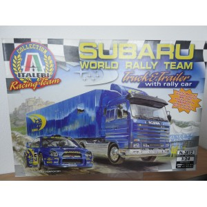 ITALERI 3812 SUBARU RALLY TEAM TRUCK EN TRAILER