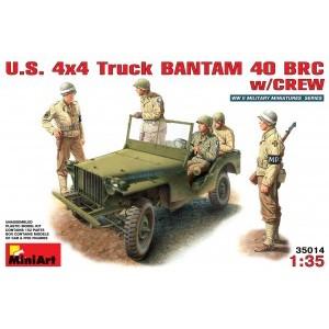MINIART 35014 U.S.4X4 TRUCK BANTAM W/CREW