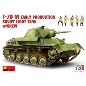 MINIART 35025 SOVIET LIGHT TANK W/CREW