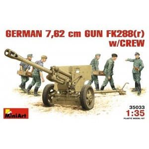 MINIART 35033 GERMAN 7,62 Nm GUN FK 288 W/CREW