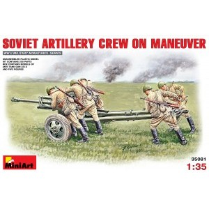 MINIART 35081 SOVIET ARTILLERY CREW ON MANEUVER