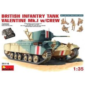 MINIART 35116 BRITISH INFANTRY TANK VALENTINE W/CREW