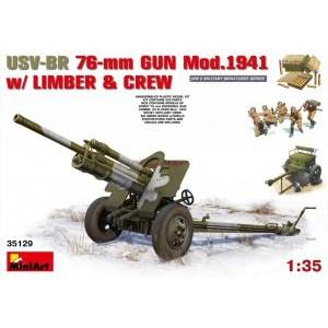 MINIART 35129 USV-BR 76 GUN MOD 1941 W/CREW