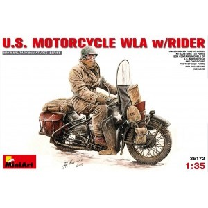 MINIART 35172 US MOTORCYCLE WITH RIDER