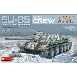 MINIART 35178 SU-85 1943 TANK W/CREW
