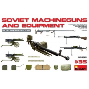 MINIART 35255 SOVIET MACHINE GUNS & EQUIPMENT