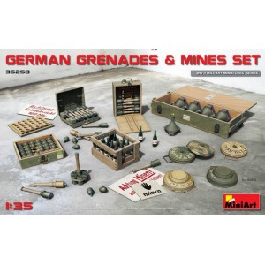 MINIART 35258 GERMAN GRENADES & MINES SET
