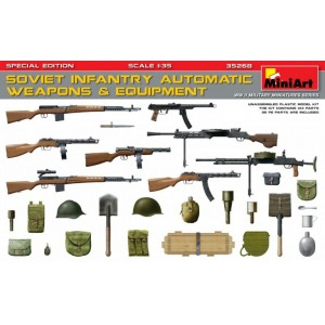 MINIART 35268 SOVIET INFANTRY AUTOM. WEAPONS & EQUIPMENT