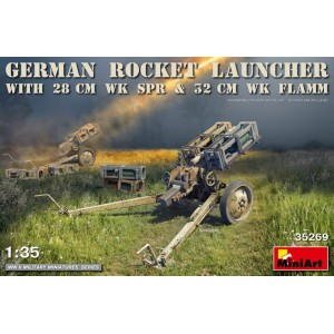 MINIART 35269 GERMAN ROCKET LAUNCHER W/28CM WK 32C