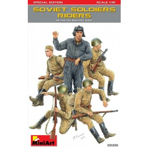 MINIART 35281 SOVIET SOLDIERS RIDERS
