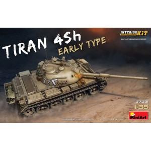 MINIART 37021 TIRAN 4 EARLY TYPE TANK  W/INTERIOR KIT