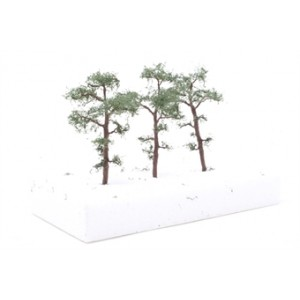 """HORNBY R8926SCOTS PINE TREES 3"""" (3) 75MM"""