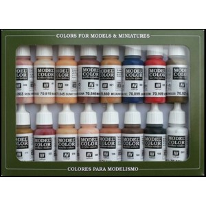 VALLEJO 70125 - Model Color Set 25 - Skintones Colors